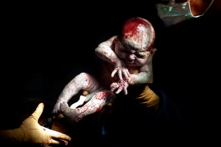 Recién nacidos fotografiados en sus primeros 20 segundos devida