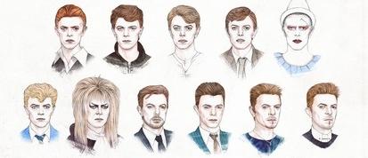 Todos los estilos de David Bowie desde 1964 al 2014en un soloGIF