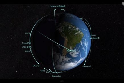 Una fascinante animación de los satélites de laNASA