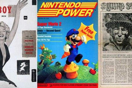 Los primeros números de 10 revistasfamosas