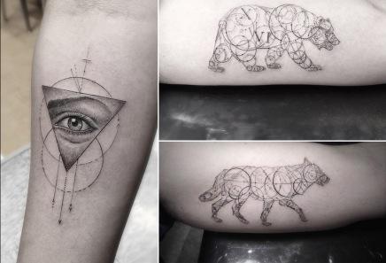 Los tatuajes geométricos de Dr.Woo